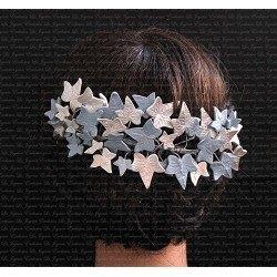 Corona de flores de porcelana Laura